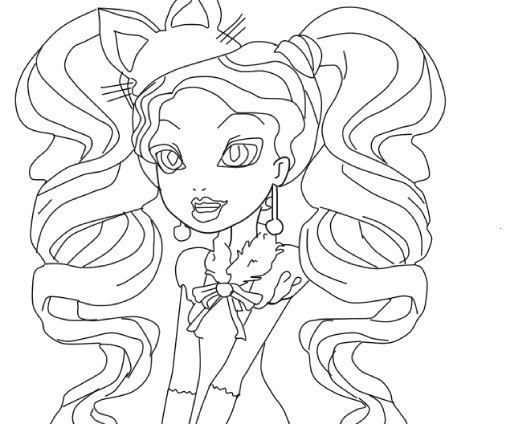 9 Dessins De Coloriage Ever After High Kitty A Imprimer