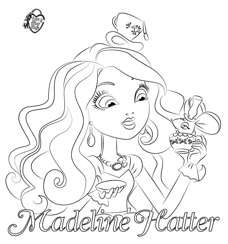 16 dessins de coloriage ever after high madeline imprimer for Madeline coloring pages