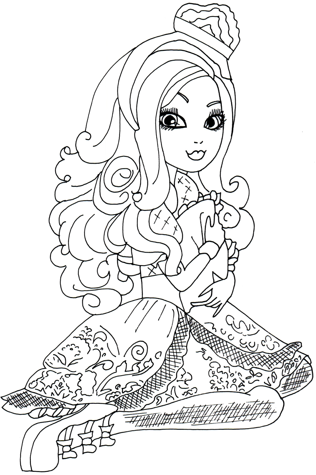 coloriage à dessiner ever after high gratuit
