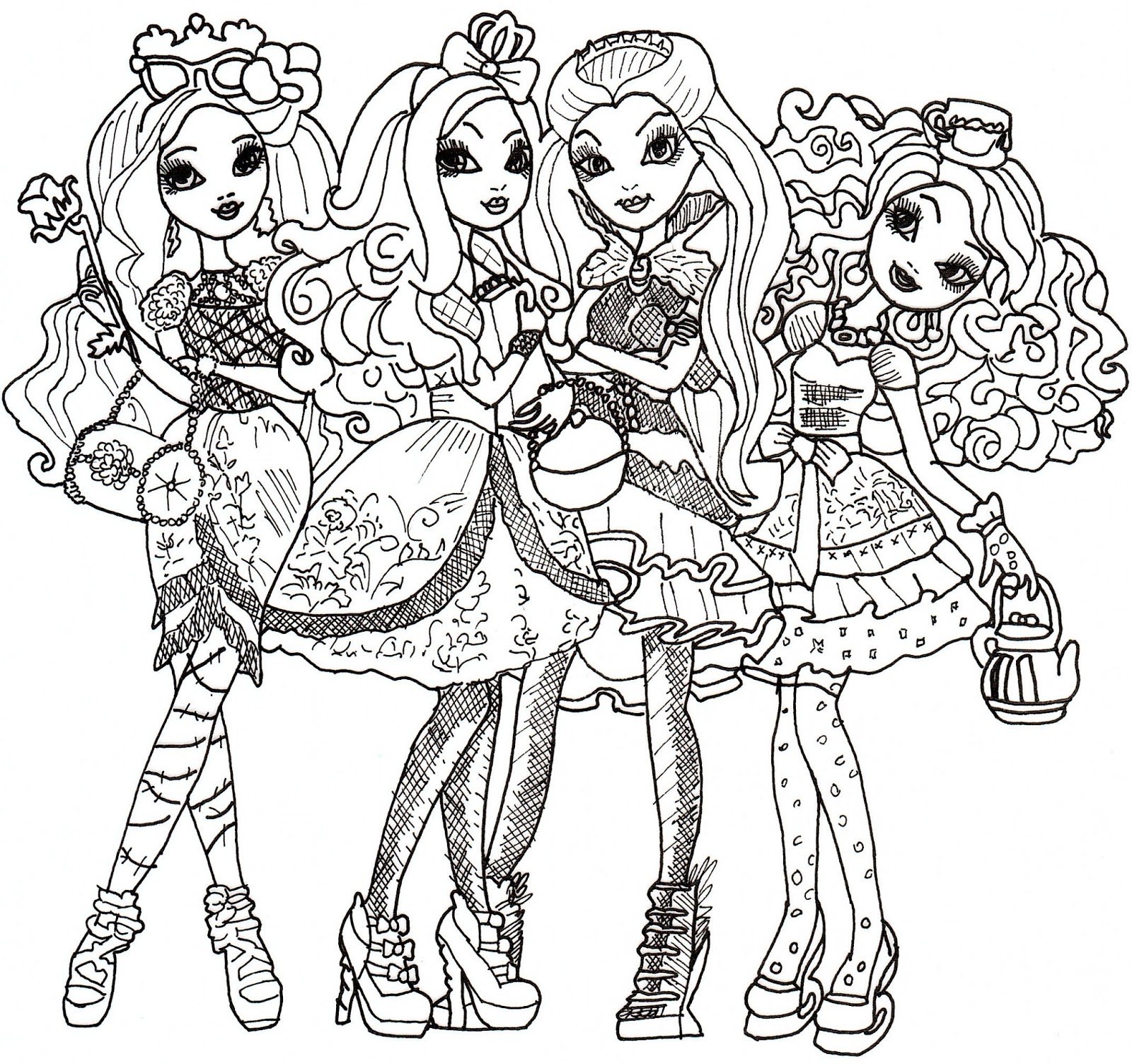 coloriage à dessiner de ever after high