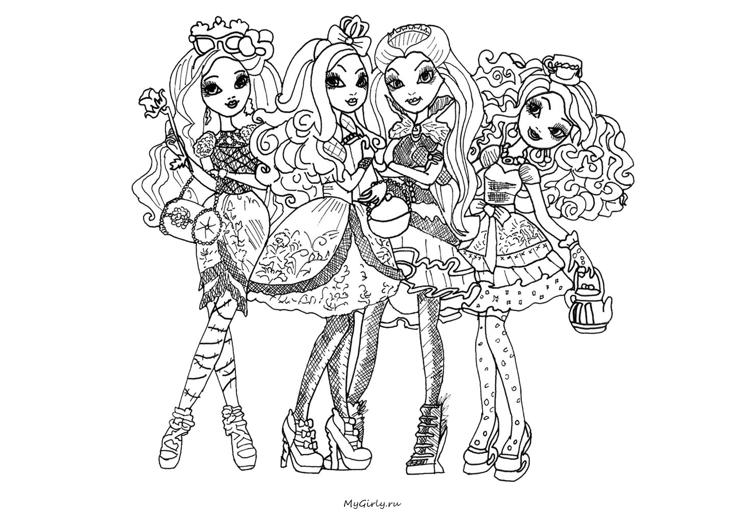 jeux de dessin � colorier ever after high