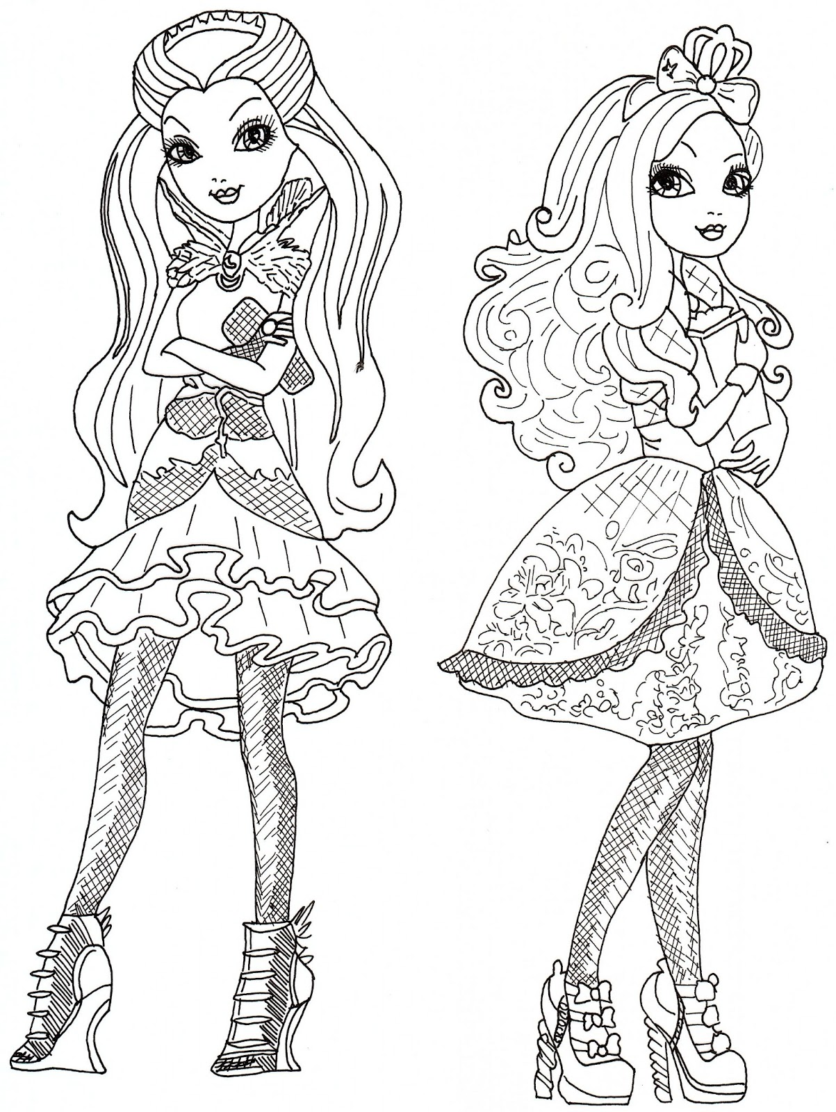 Lizzie Hearts Coloriage Ever After High Coloriages Viewinviteco