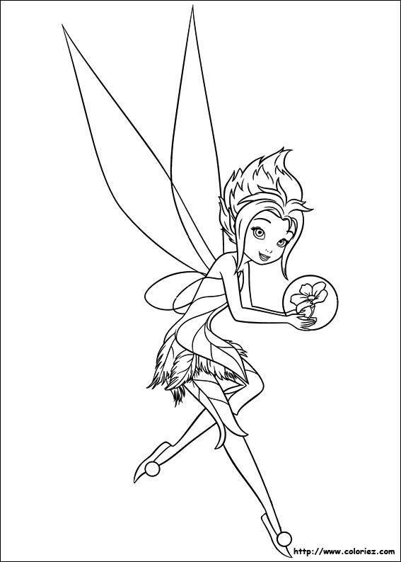 coloriage à dessiner fée avec licorne