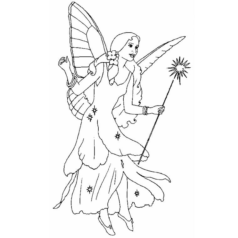 coloriage à dessiner fée clochette en ligne