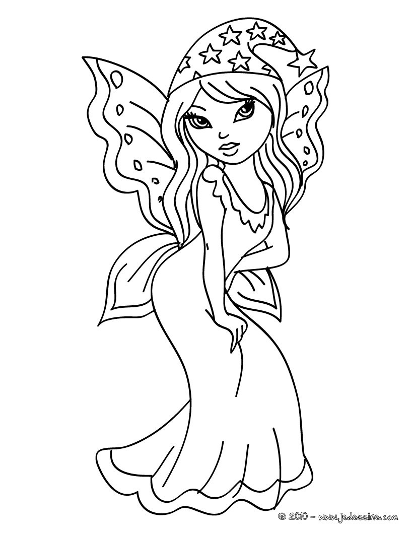 Coloriage fille fee clochette - Image de fee a imprimer ...