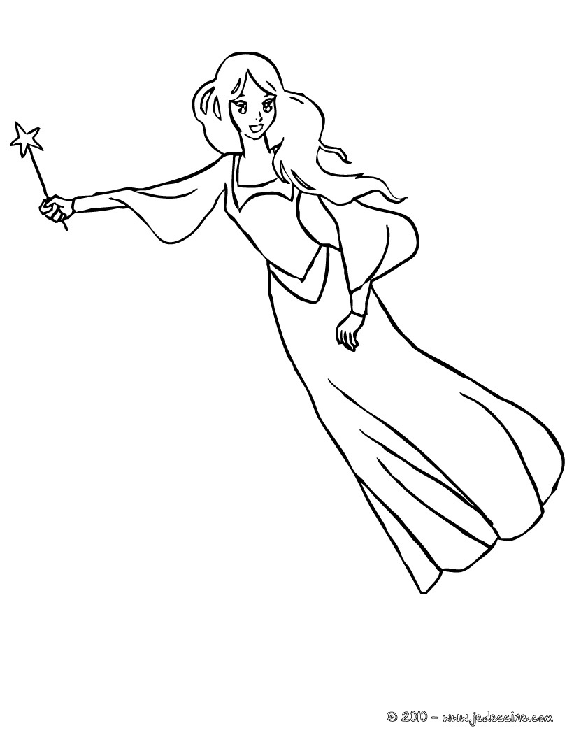 coloriage fee crystal