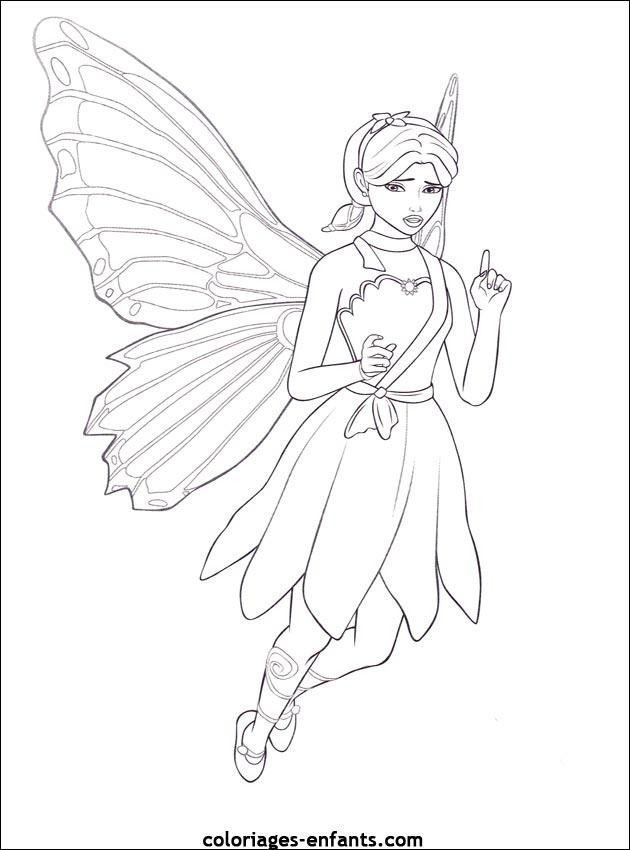 coloriage à dessiner fée papillon imprimer