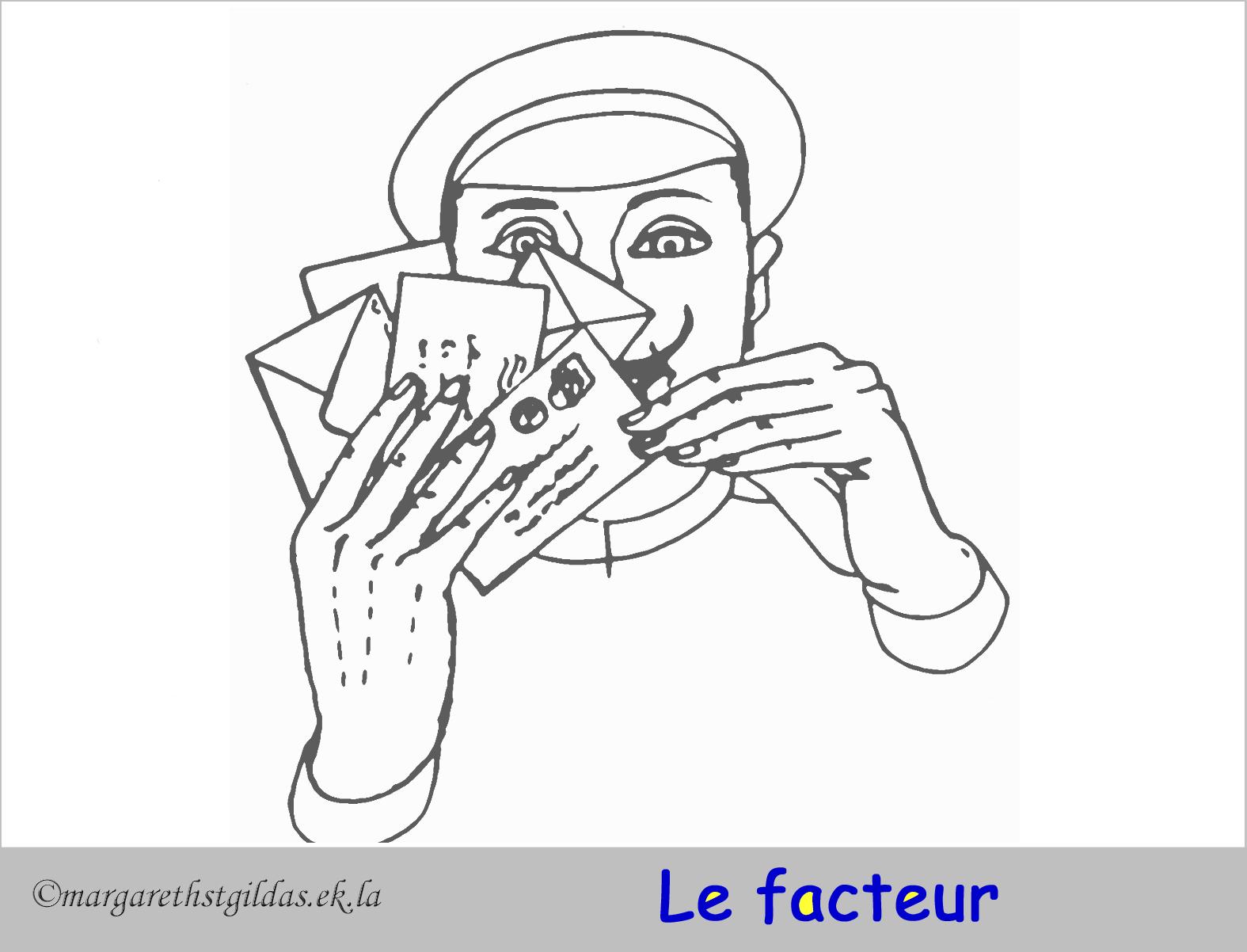 18 dessins de coloriage facteur imprimer - Facteur dessin ...