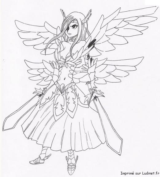 3 dessins de coloriage fairy tail erza imprimer - Dessin fairy tail ...