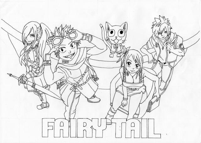 11 dessins de coloriage fairy tail lucy imprimer - Dessin fairy tail ...