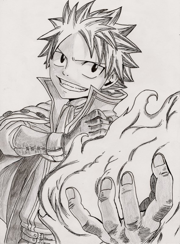 3 dessins de coloriage fairy tail natsu imprimer imprimer - Dessin anime de fairy tail ...