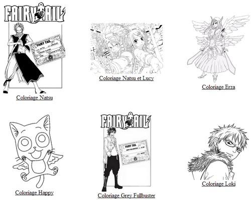 coloriage à dessiner manga fairy tail en ligne
