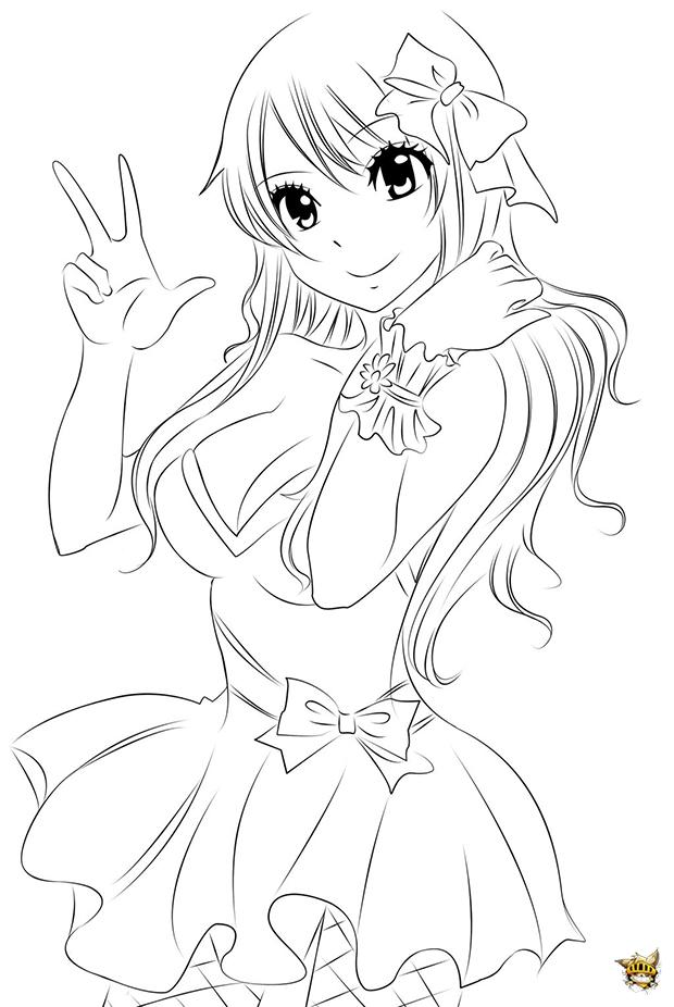dessin à colorier fairy tail natsu