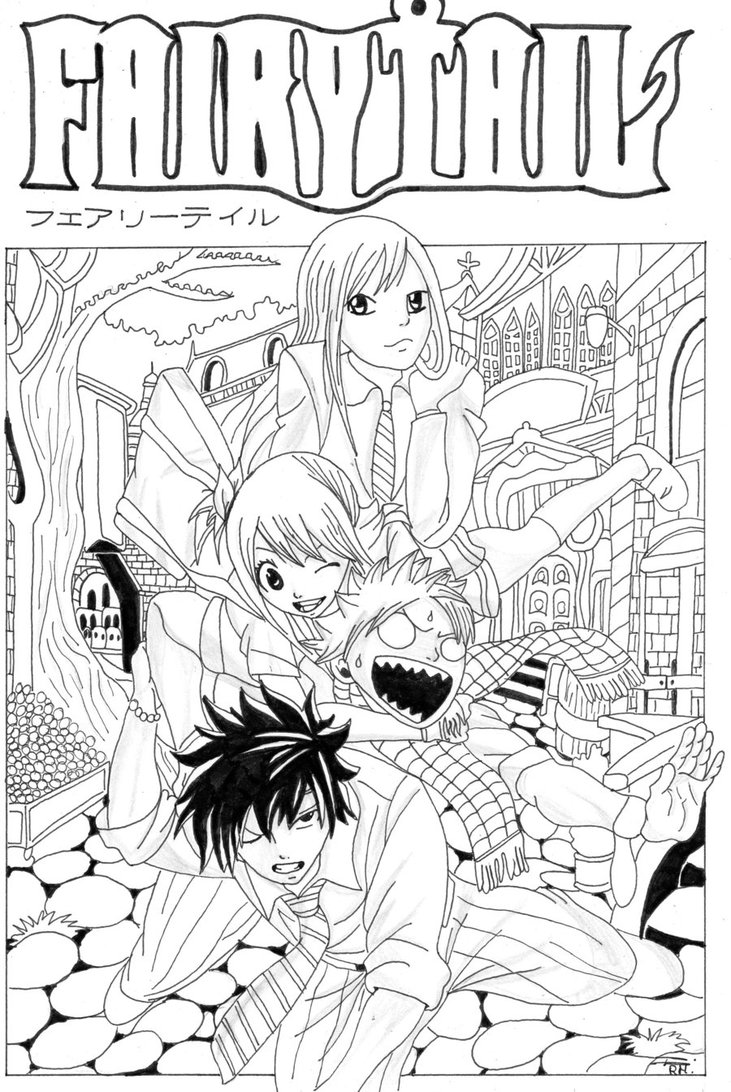 75 Dessins De Coloriage Fairy Tail A Imprimer