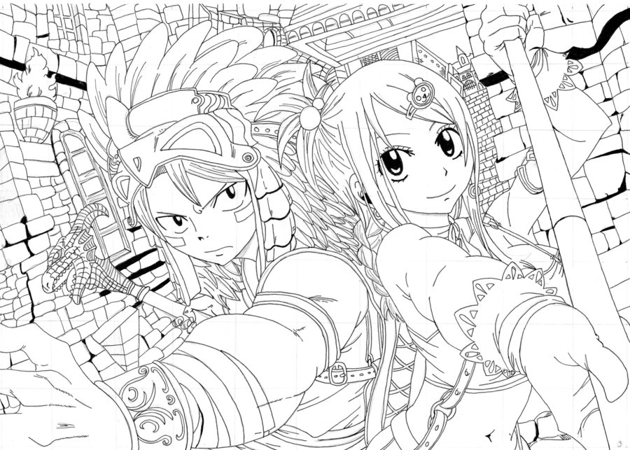 image a colorier fairy tail