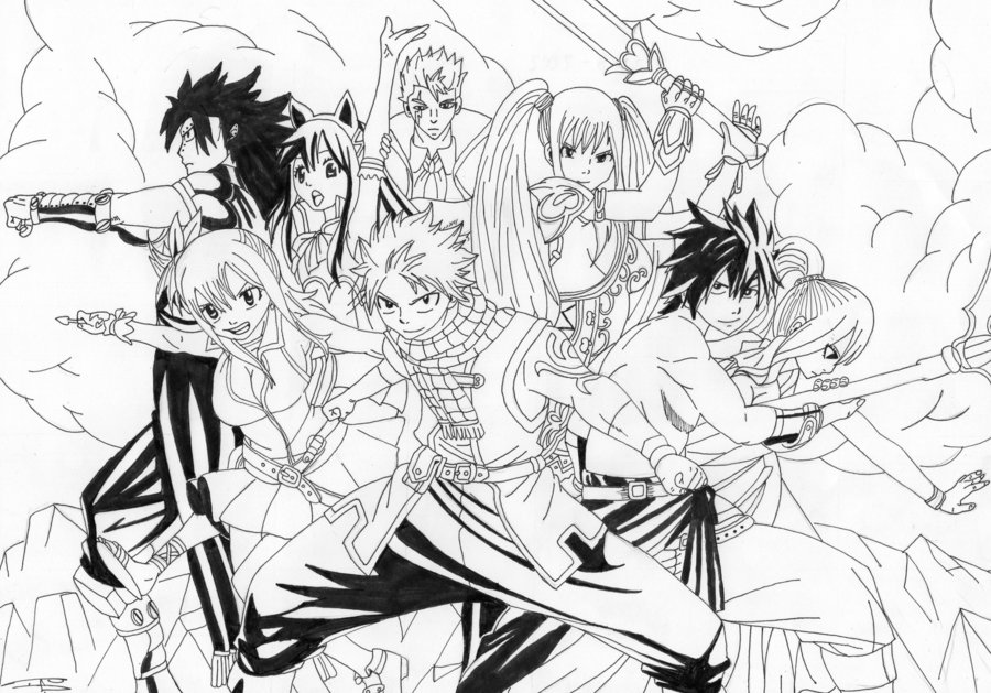 dessin fairy tail happy