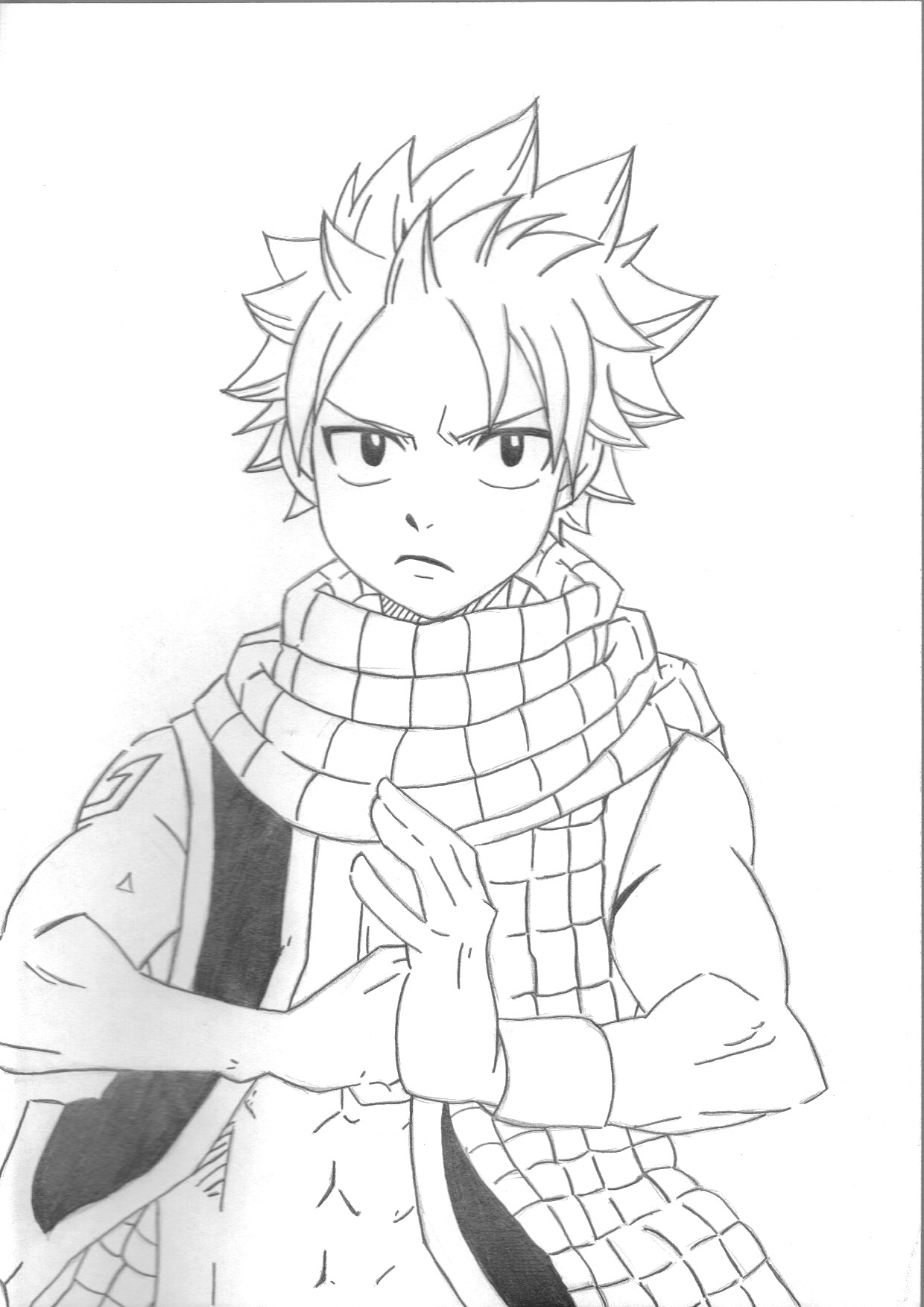 coloriage fairy tail gray