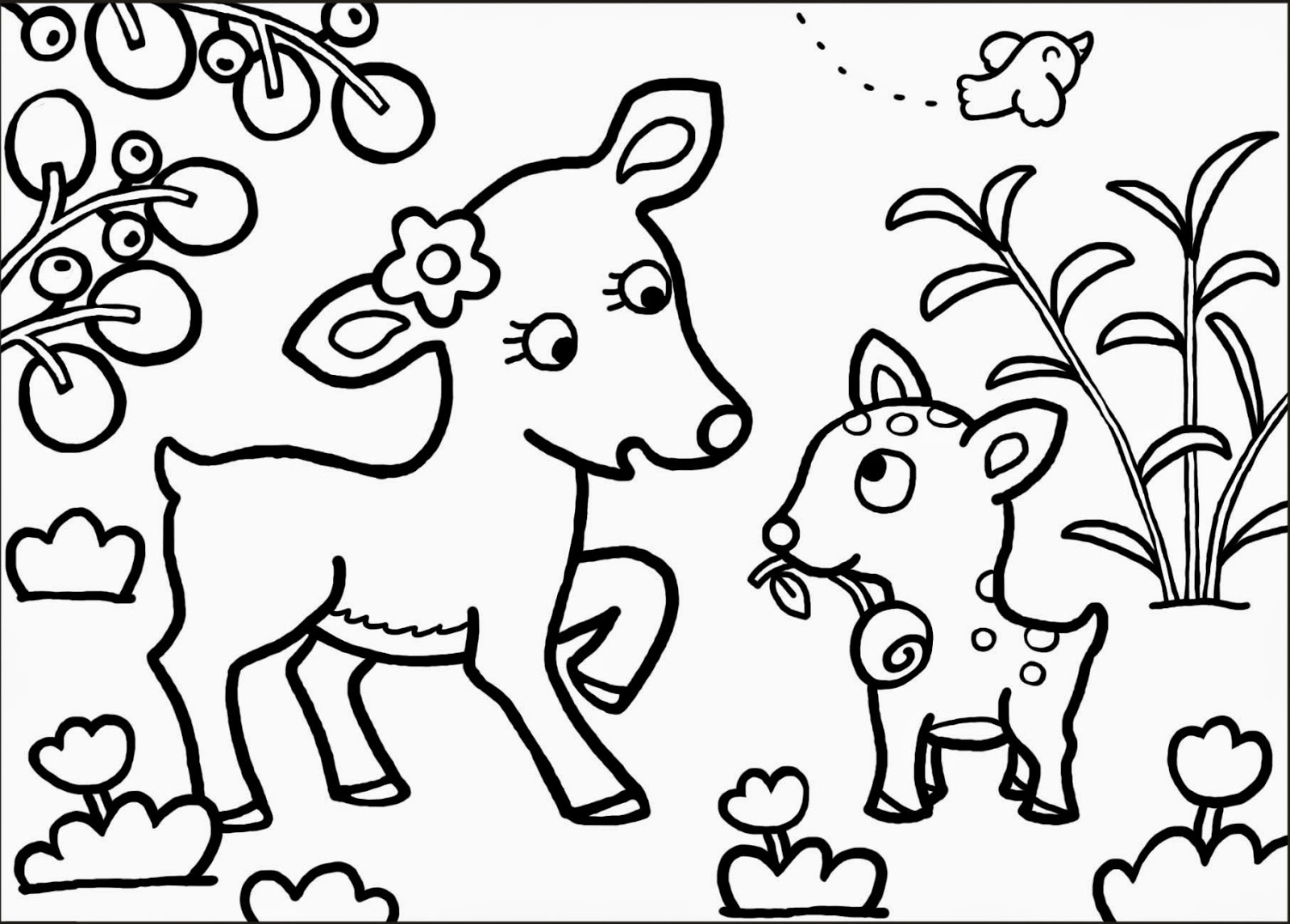 Coloriage faon biche - Coloriages escargot ...