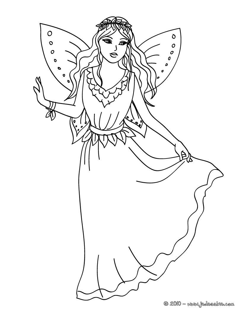 20 dessins de coloriage f e clochette en ligne gratuit imprimer - Dessin colorier ...