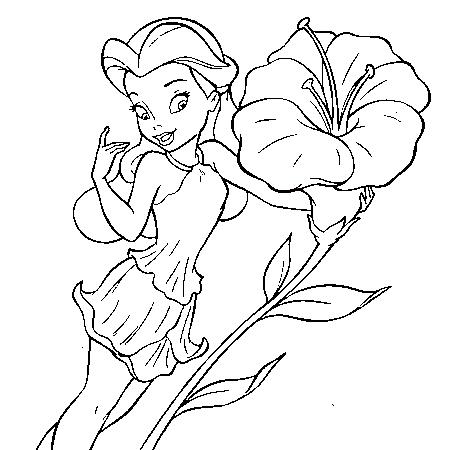 20 dessins de coloriage f e clochette en ligne gratuit - Dessin des fleurs ...
