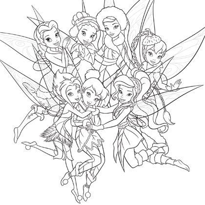 18 dessins de coloriage f e clochette et ses amies imprimer - Clochette et ses amies ...