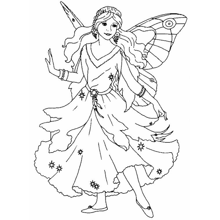 19 dessins de coloriage Fée Clochette Gratuit à imprimer
