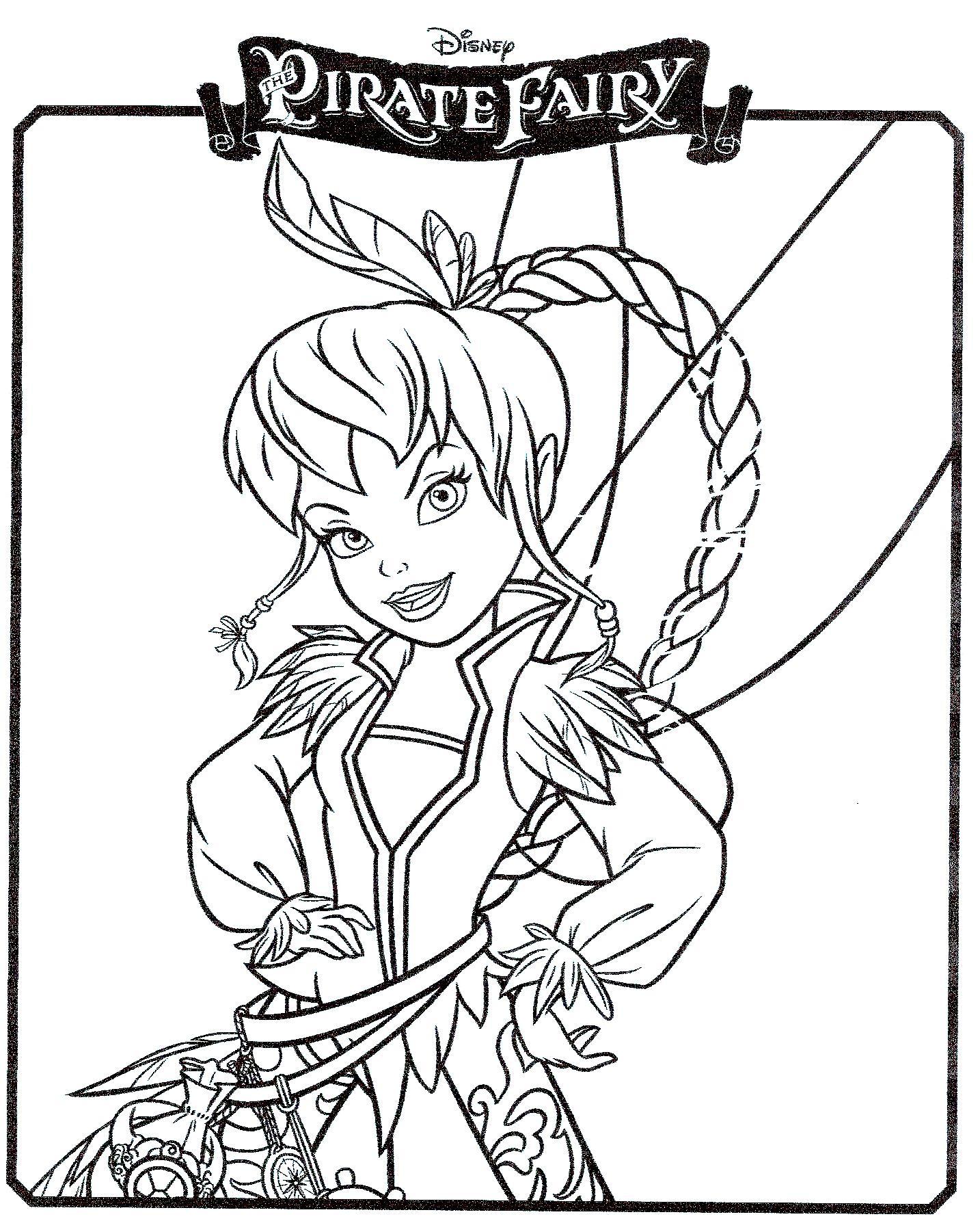 20 dessins de coloriage Fée Pirate à imprimer