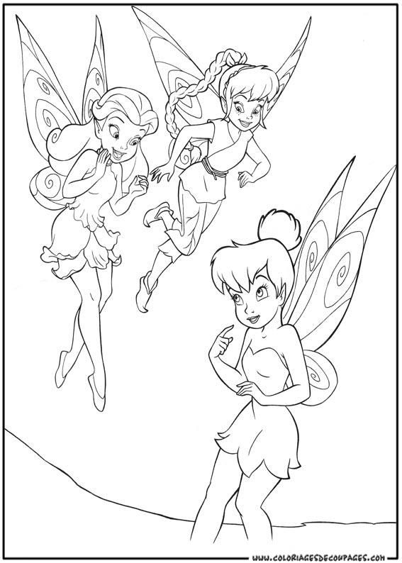 coloriage � dessiner fee clochette gratuit