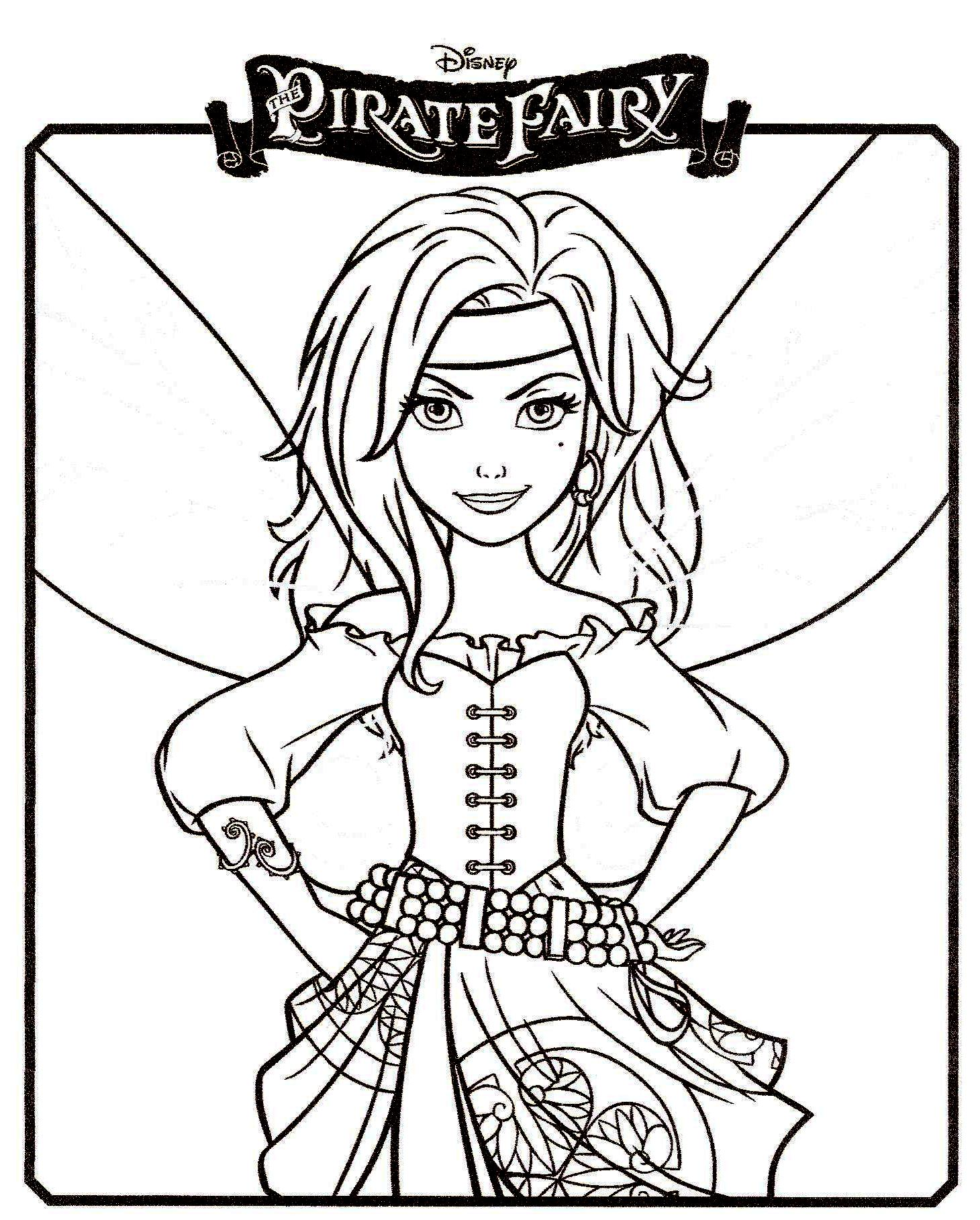coloriage fille fee clochette