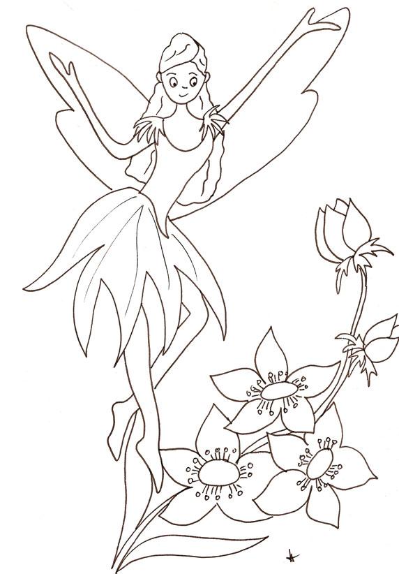 coloriage à dessiner fée marie