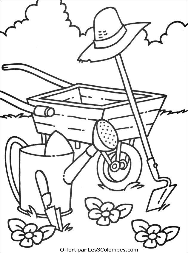 Coloriage Une Ferme.19 Dessins De Coloriage Ferme A Imprimer