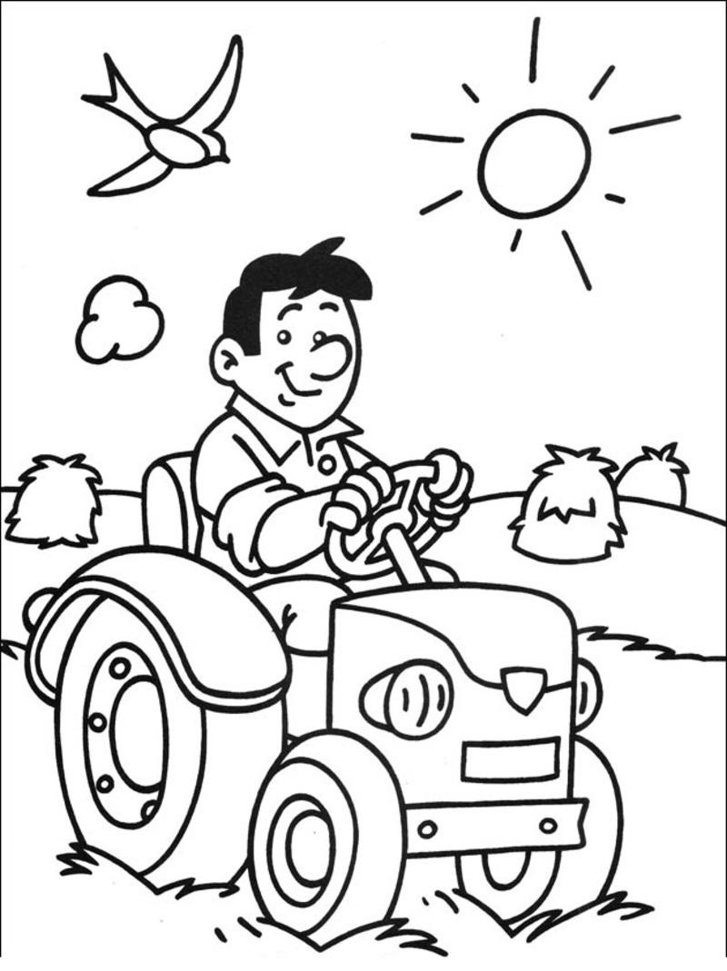 6 dessins de coloriage fermier et fermi re imprimer - Coloriage fermier ...