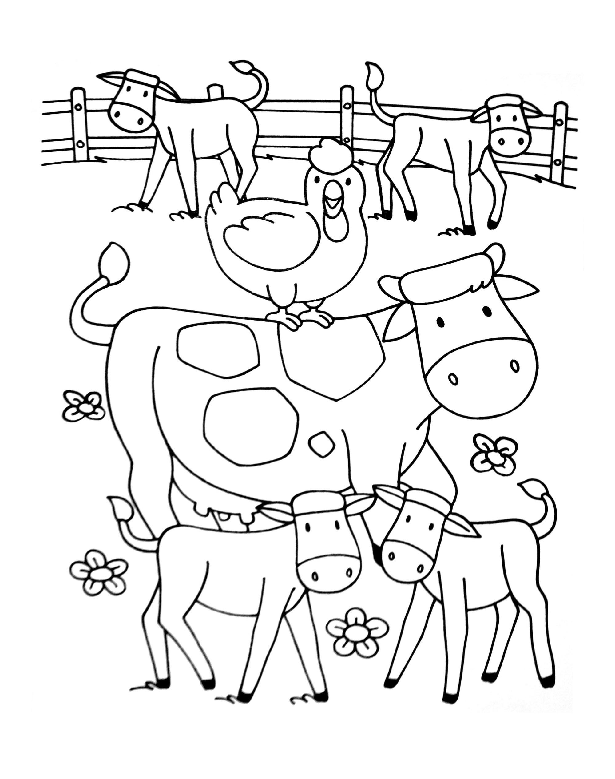 coloriage fermier imprimer