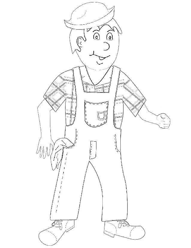 dessin gratuit fermier