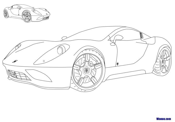 Dessin ã Colorier Ferrari 458 Italia Imprimer