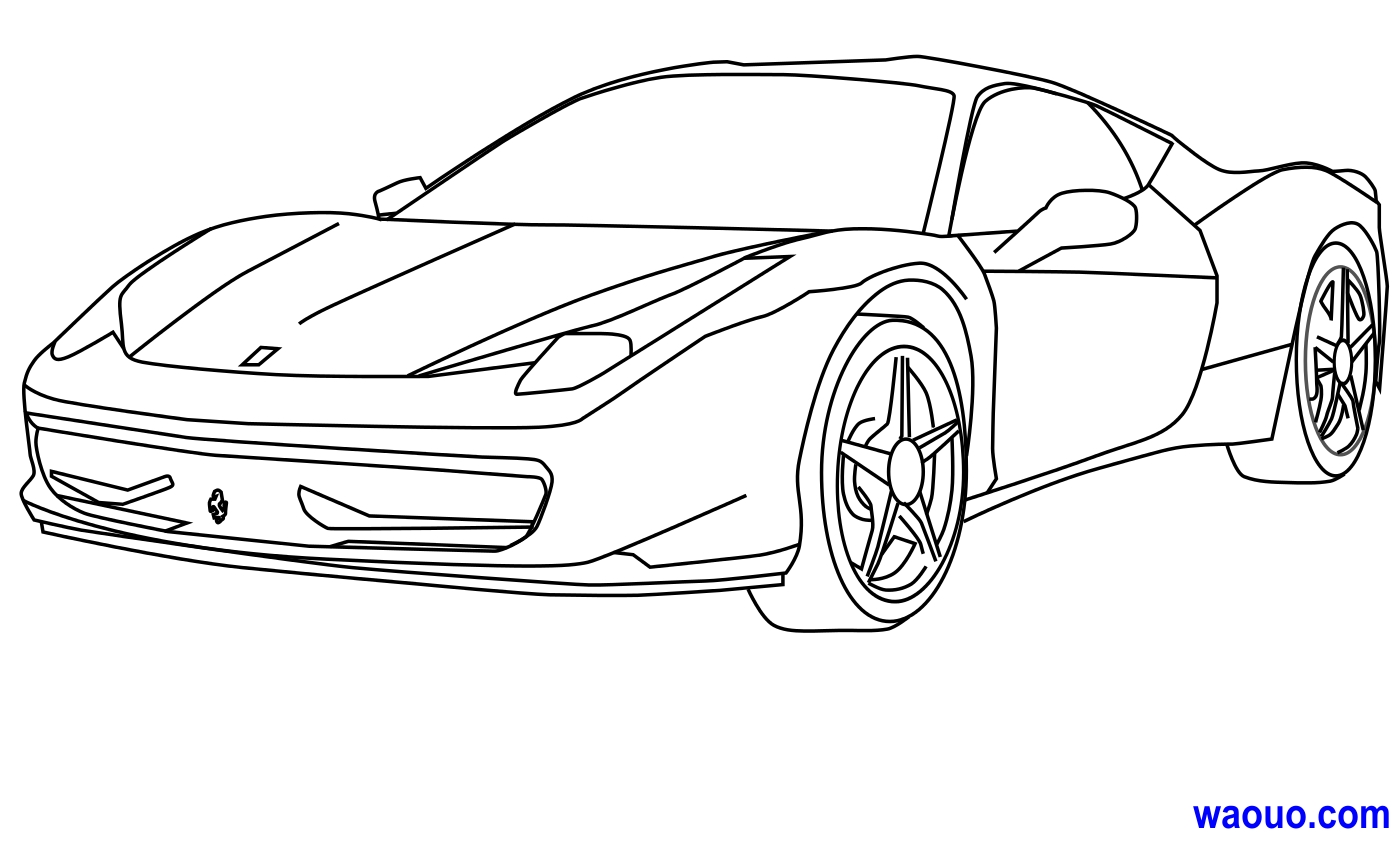 33 dessins de coloriage ferrari imprimer for Plans de dessins de porche