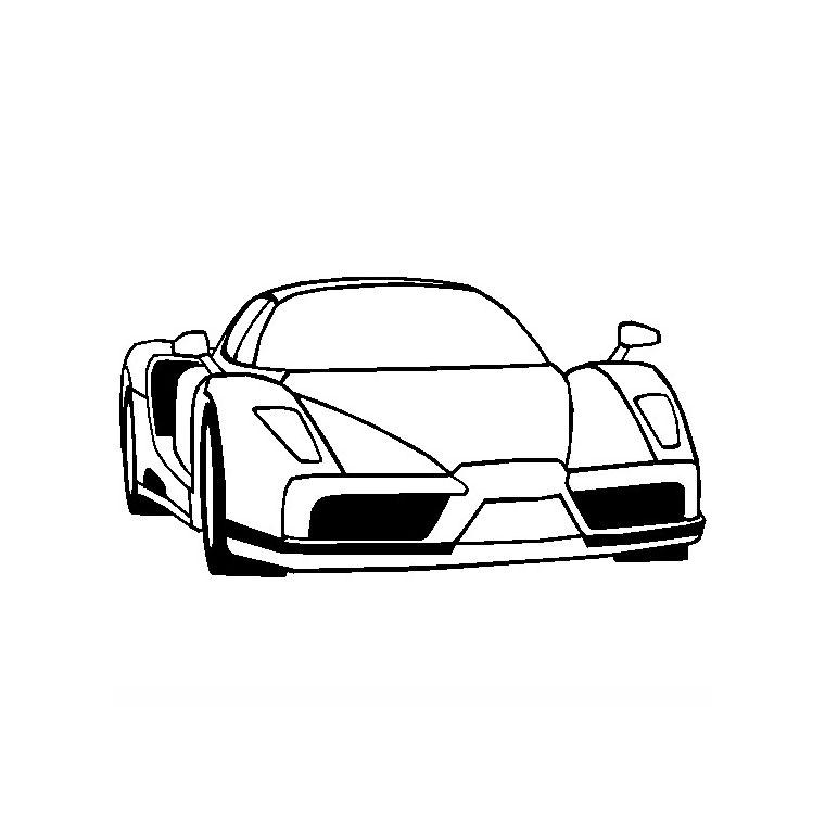 Coloriage ã Dessiner Ferrari 458 Italia Imprimer