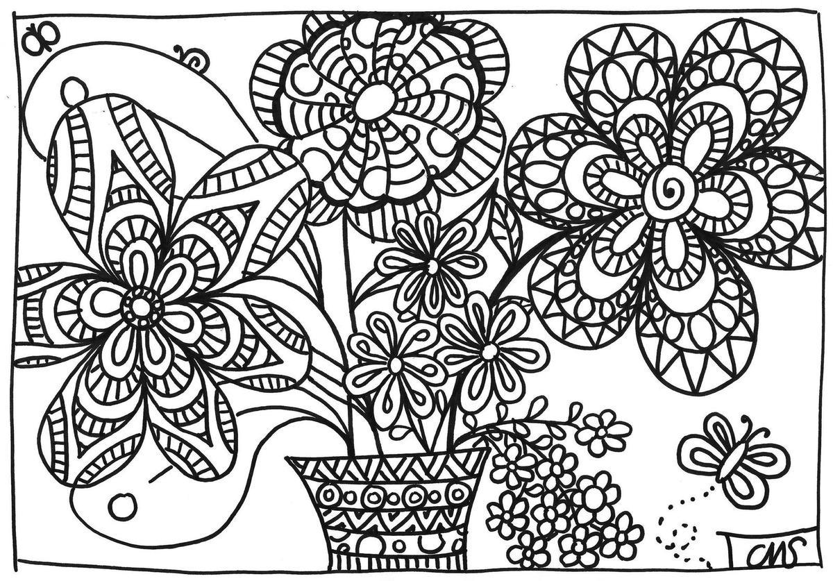 77 dessins de coloriage f te des m res cp imprimer - Coloriage fleurs maternelle ...