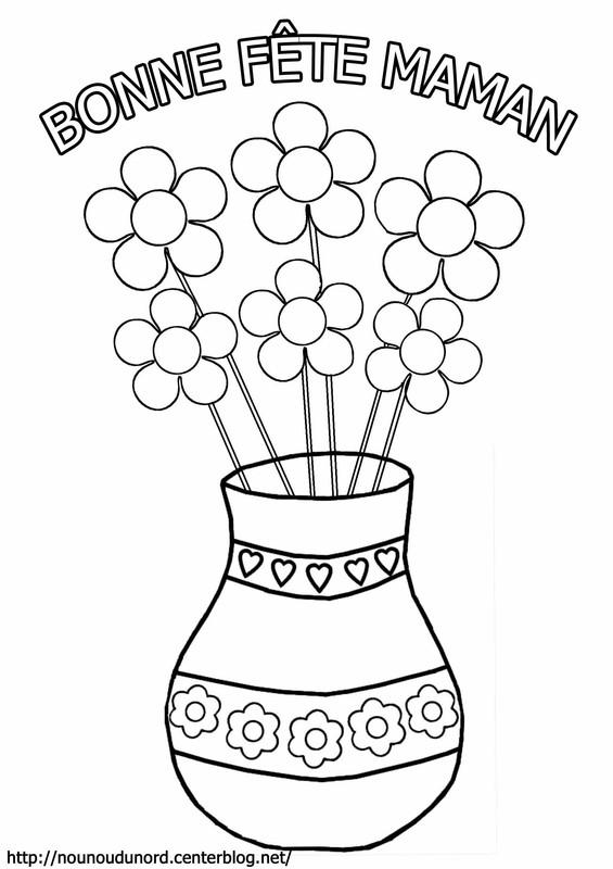 Exceptionnel 99 dessins de coloriage Fête Des Mères En Ligne à imprimer FK07