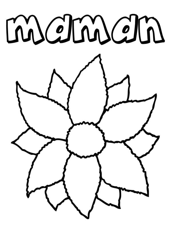 98 dessins de coloriage f te des m res fleurs imprimer - Fleurs en dessin ...