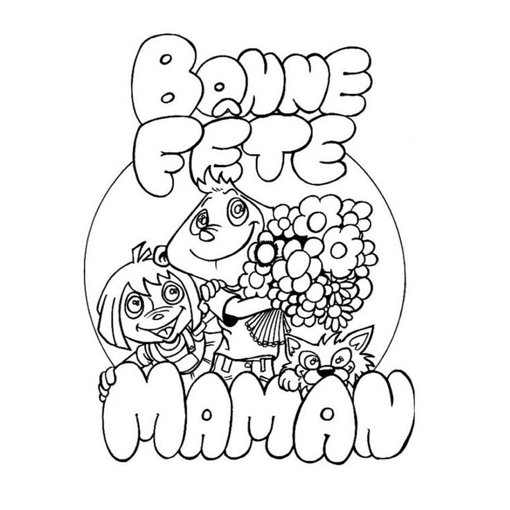90 dessins de coloriage Fête Des Mères Petite Section à imprimer