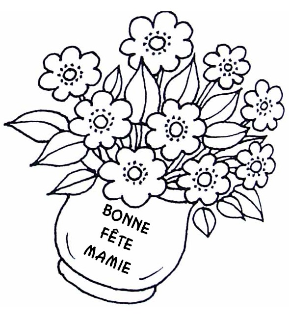 Dessin Pot De Fleur Fete Des Meres Coloriage Marnfozinecom