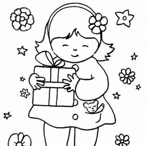 100 dessins de coloriage f te des p res en ligne imprimer - Coloriage petite fille ...