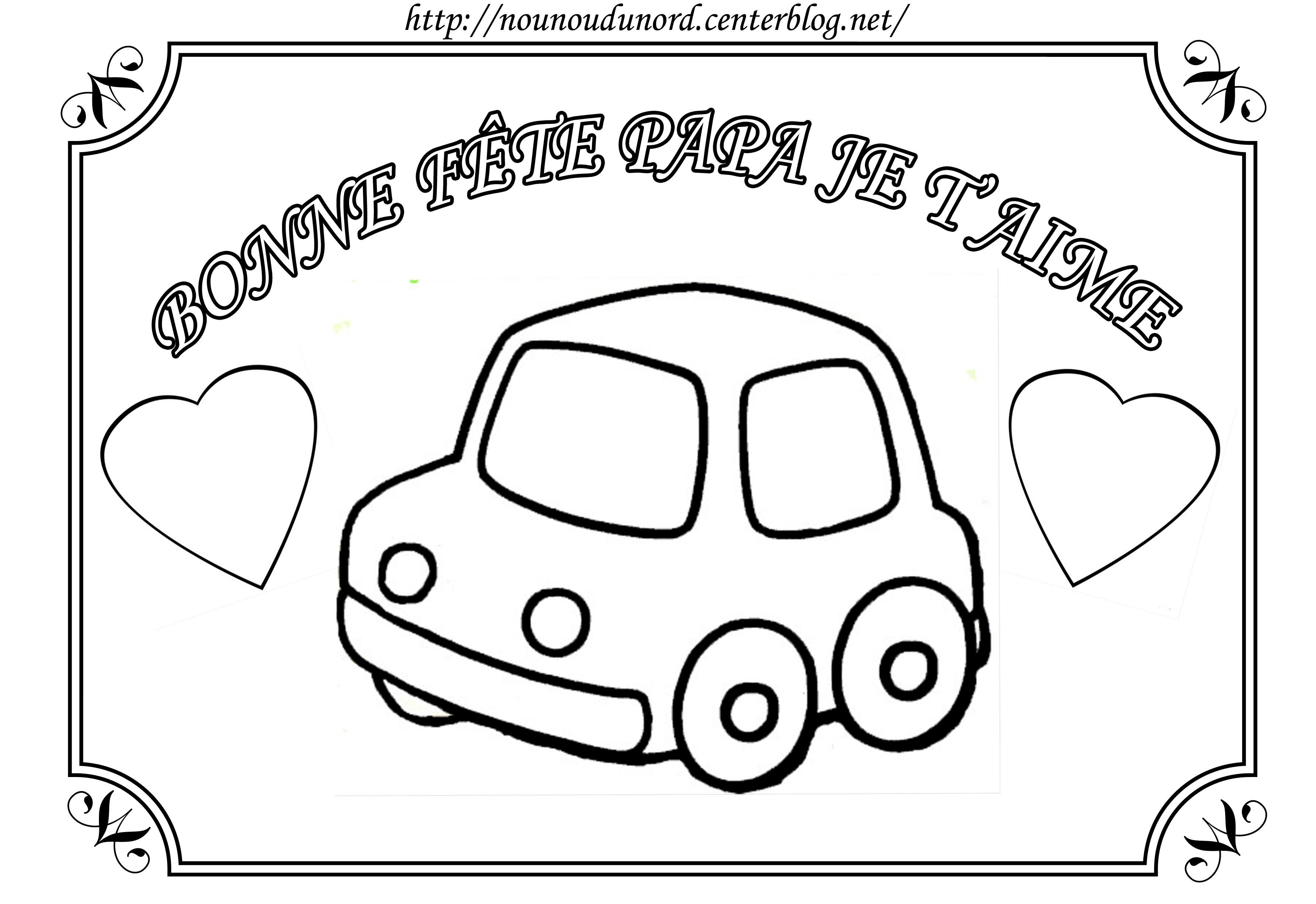 dessin à colorier de fete des peres a imprimer gratuit