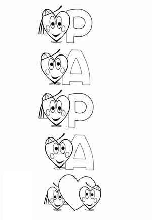 dessin en ligne pour la fete des peres