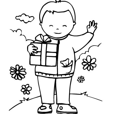 dessin à colorier simple fête des mères