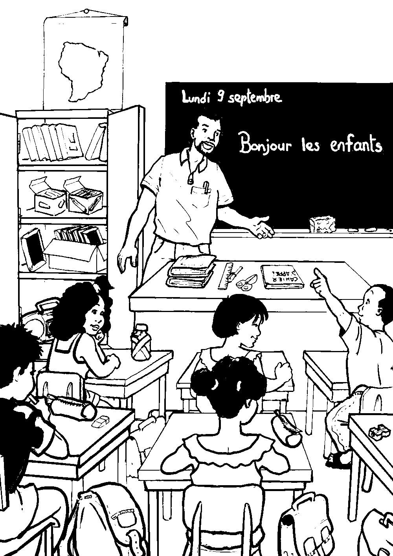 Coloriage Fete Ecole.Dessin Classe Ecole Dh58 Jornalagora