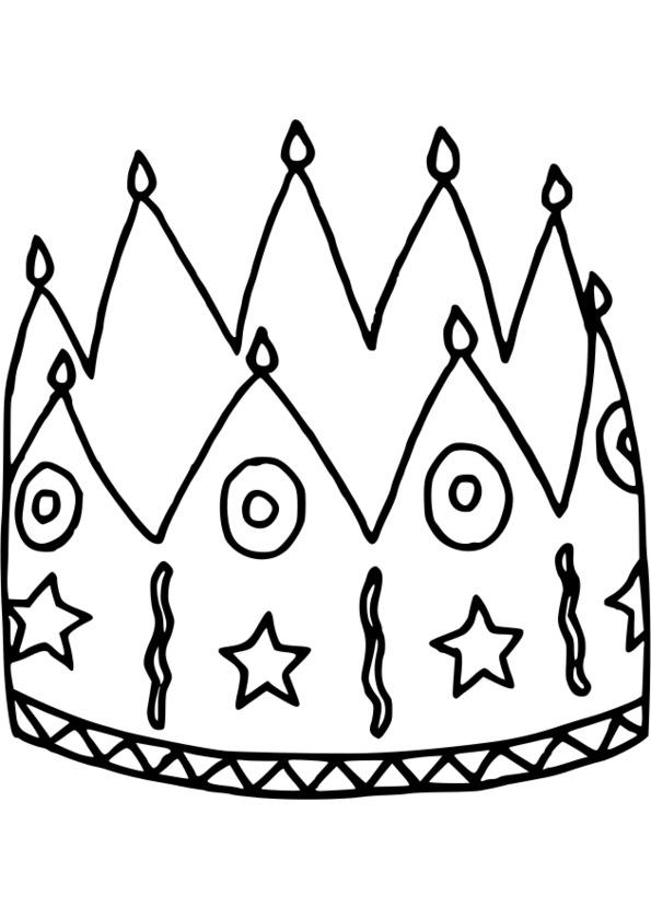 Coloriage couronne fete des rois - Couronne de noel a colorier ...