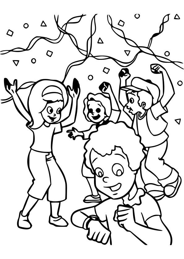 dessin à colorier fête des mères