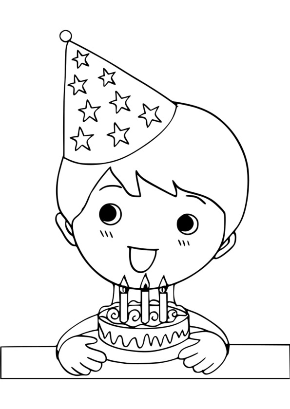 coloriage fête d'anniversaire